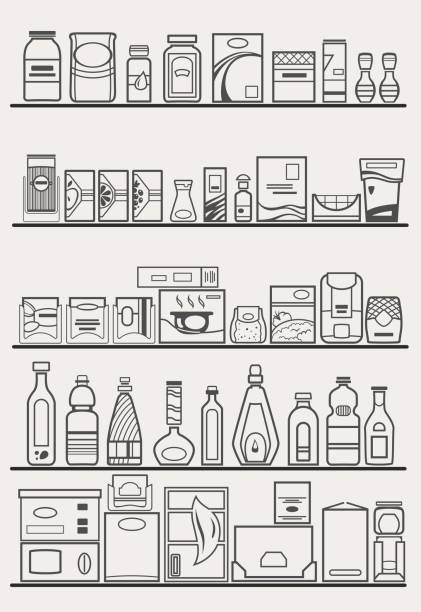 Best Pantry Illustrations, Royalty.