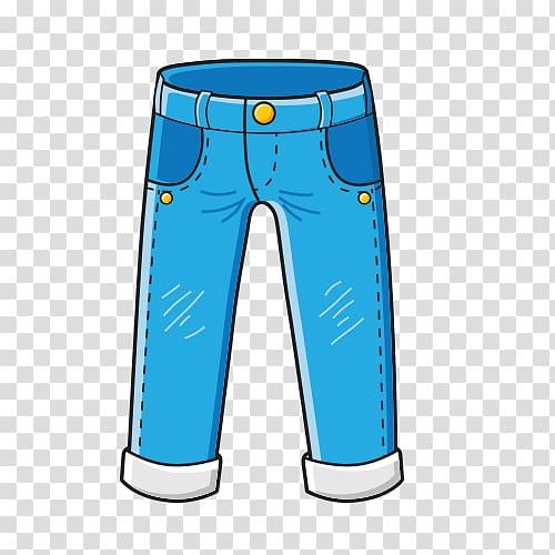 Blue pants illustration, Pants Jeans T.