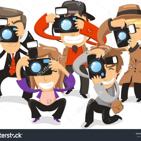 Paparazzi Camera Clipart.