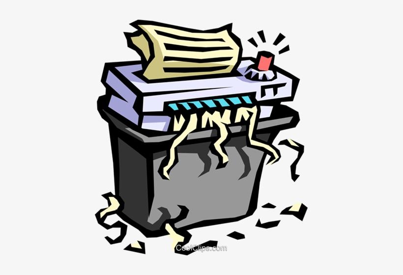 Office Paper Shredder Royalty Free Vector Clip Art.