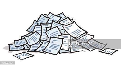 Pile Of Paperwork Clipart Image.