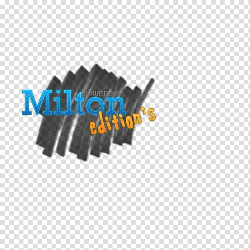 Logo para Milton transparent background PNG clipart.