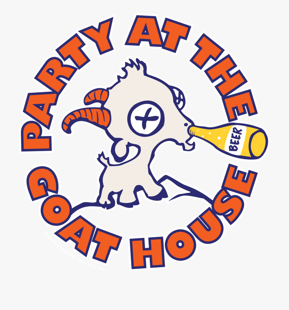 Party At The Goat House Logo Clipart , Png Download.