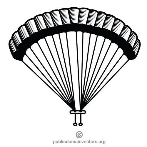 Parachute vector clip art graphics.