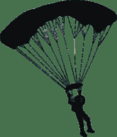 Parachute Clipart transparent PNG.