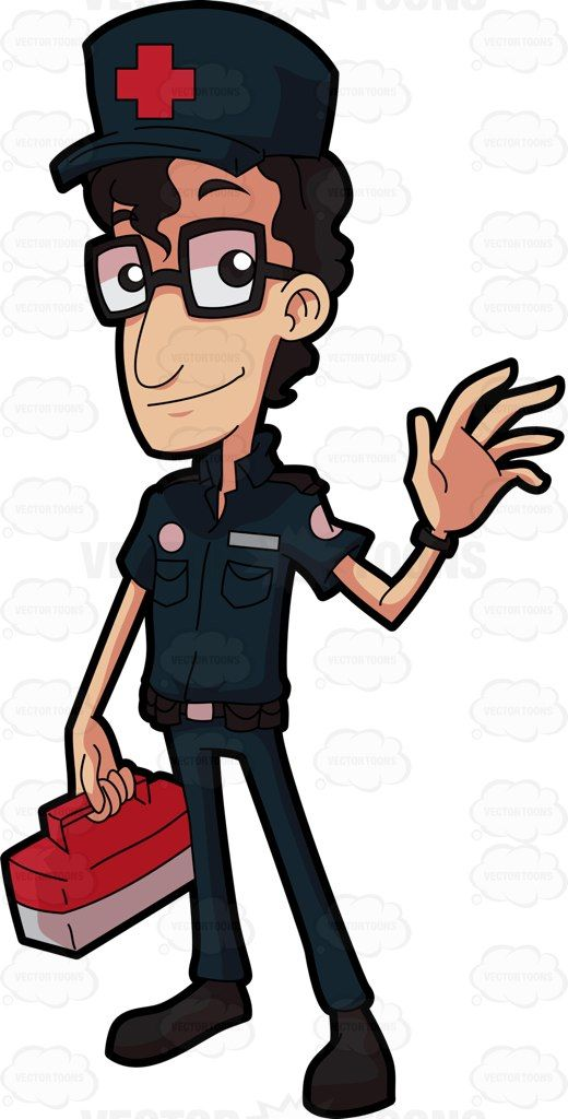 81+ A Friendly And Ner Paramedic Clipart.