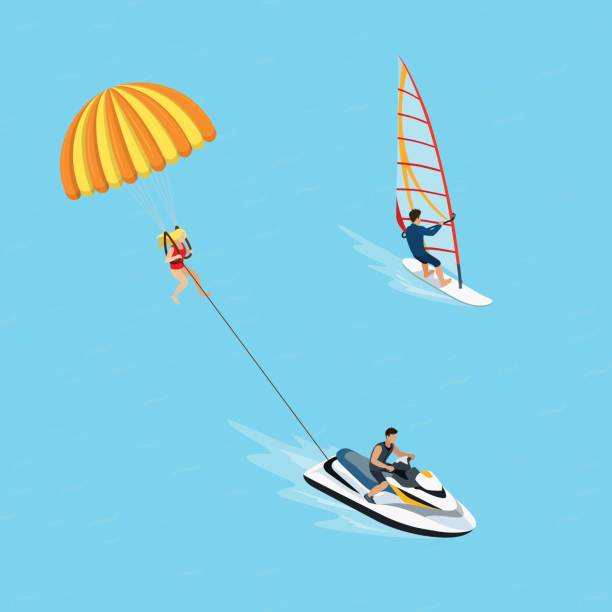 Top 60 Parasailing Boat Clip Art, Vector Graphics and Illustrations.