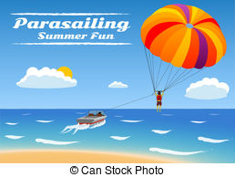 Parasailing Illustrations, Graphics & Clipart.