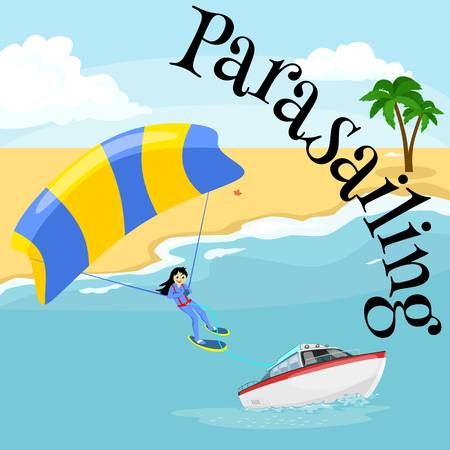 324 Parasailing Stock Vector Illustration And Royalty Free.