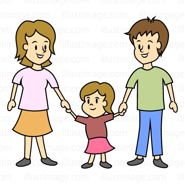 Boy With Parents Clipart.