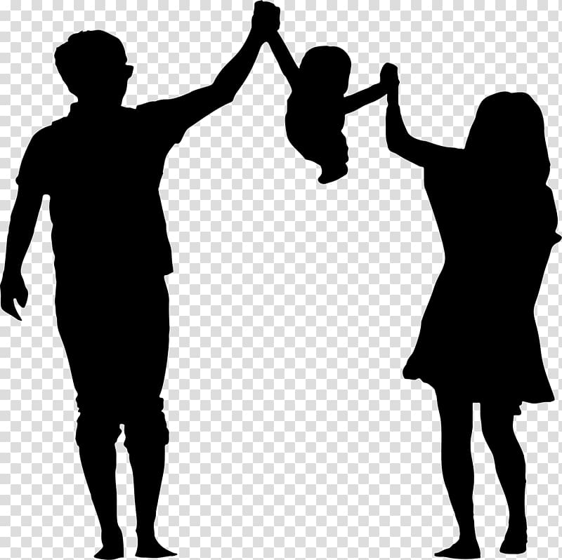 Child Silhouette Parent , parents transparent background PNG.