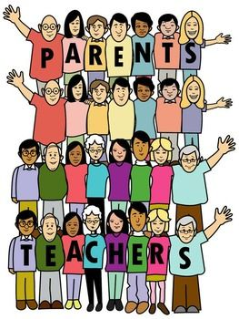 Parent teacher clip art.