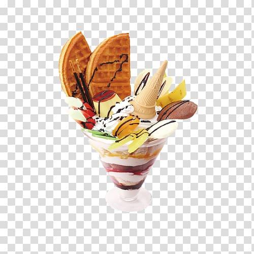 Ice cream Sundae Parfait Frozen yogurt, Ice cream.