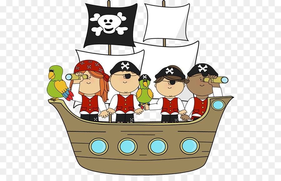 Pirate Ship Cartoon clipart.