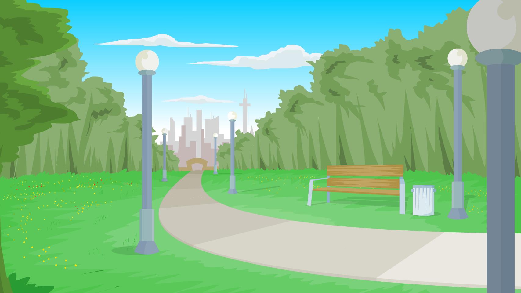 Park background clipart » Clipart Station.