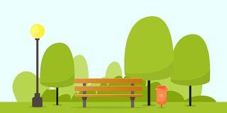 Park Bench Stock Illustrations.