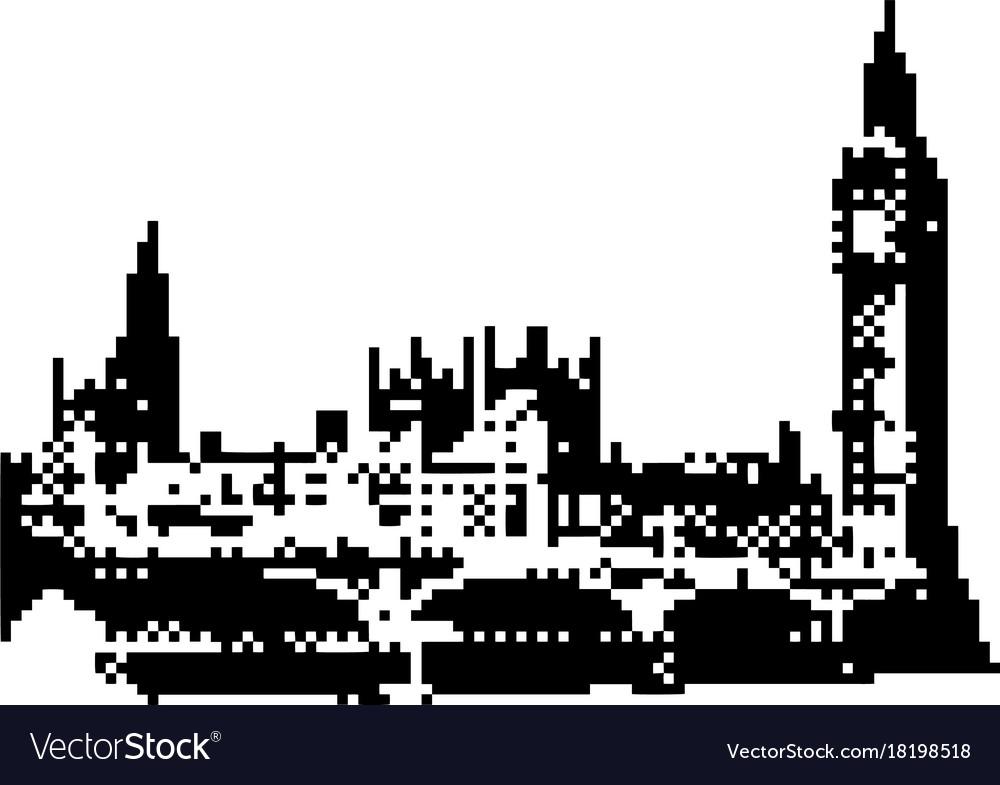 Big ben clock tower and parliament house at city.