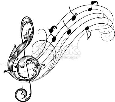 Musique, Note de musique, Clé de sol, Partition musicale.