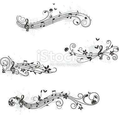 Note de musique, Papillon, Portée musicale, Partition musicale, Fl.