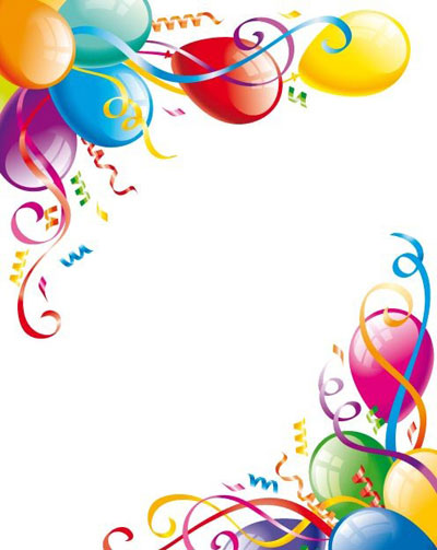 Birthday Party Border Clipart, Birthday Borders Free Clipart.