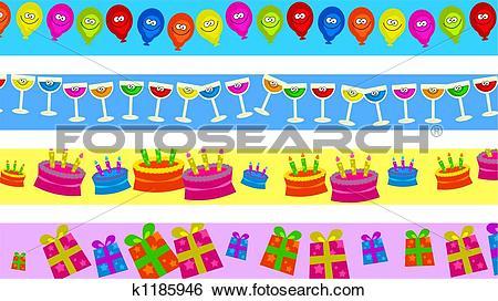 Stock Illustration of birthday borders k1185946.