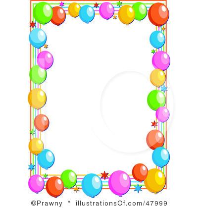 Birthday Party Clip Art Borders.