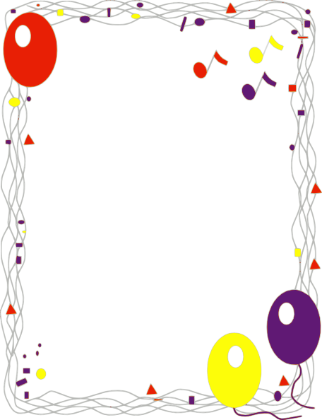 Clipart Party Borders.
