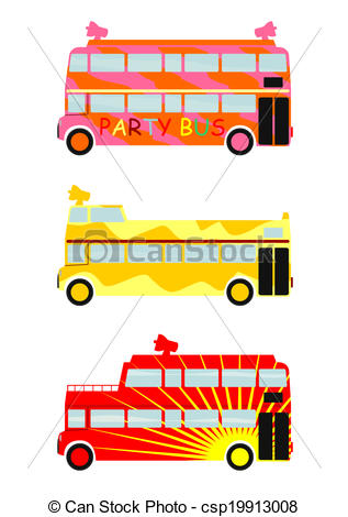 Vector Clipart of Party bus..
