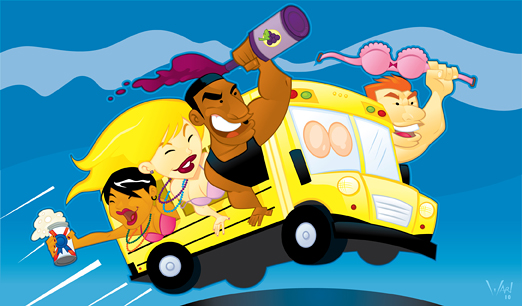 Showing post & media for Cartoon party bus.