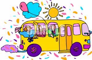 Clipart Party Bus.