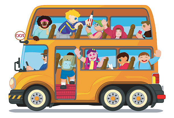 Party Bus Clip Art, Vector Images & Illustrations.