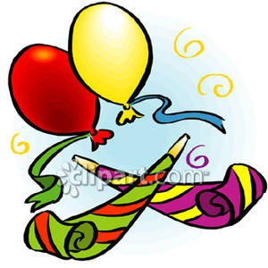 Party Decorations Clipart#1920372.