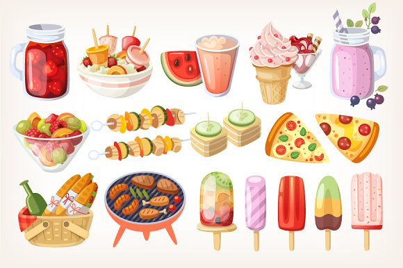 Party Food Clipart.