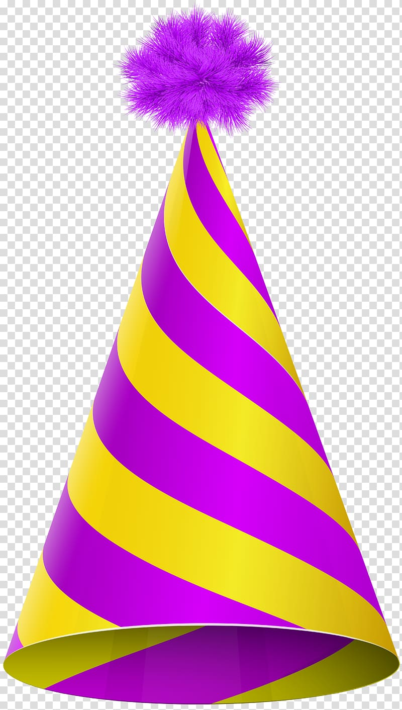 Party hat Birthday , party transparent background PNG.