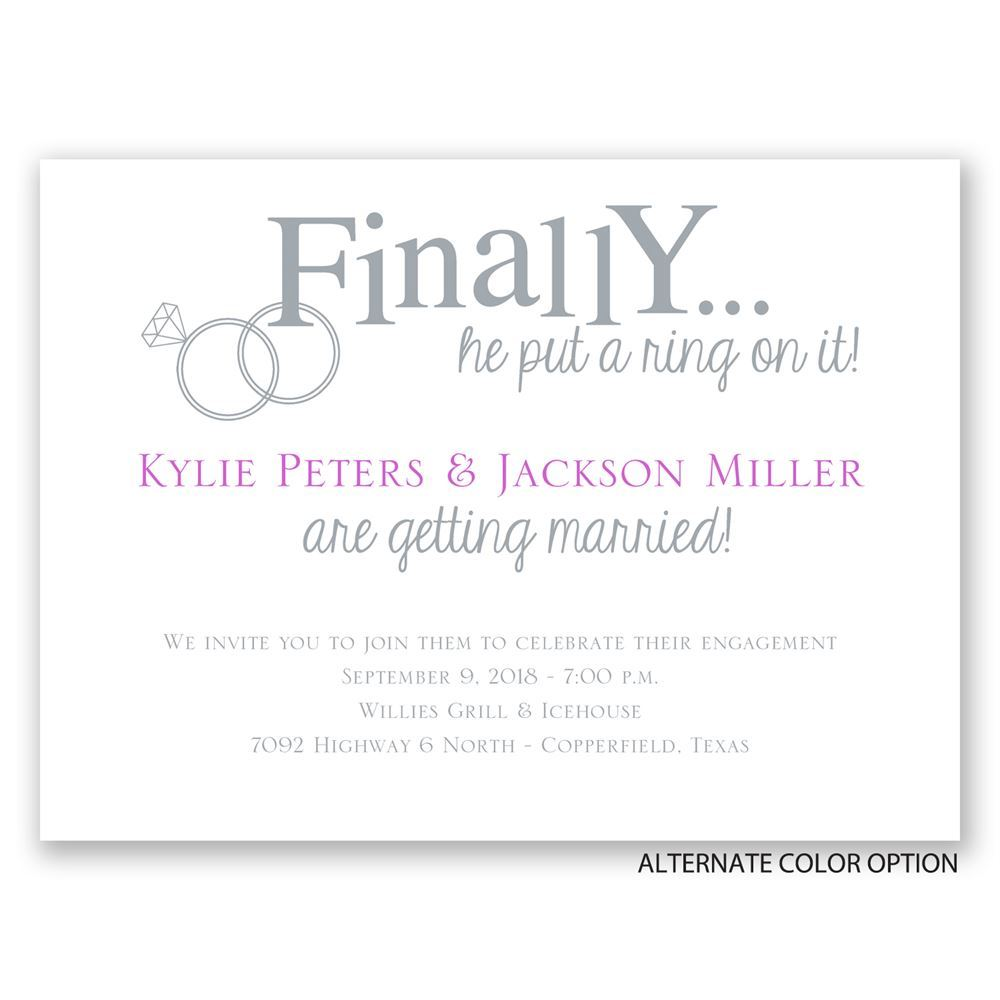 Engagement Party Invitation Clipart.