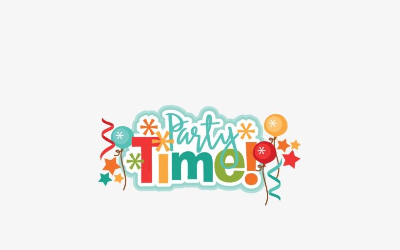 Party Time Title Svg Scrapbook Cut File Cute Clipart.