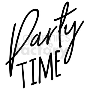 party time typography vector art clipart. Royalty.