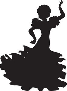Free Flamenco Dancer Clipart Image 0071.