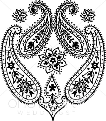 Western Paisley Clipart.