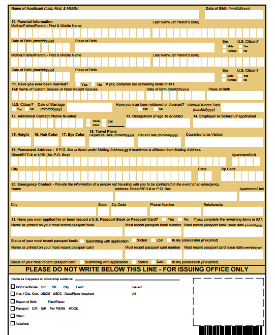Ds 11 form Pdf Beautiful Ds11 Passport Application Pdf.