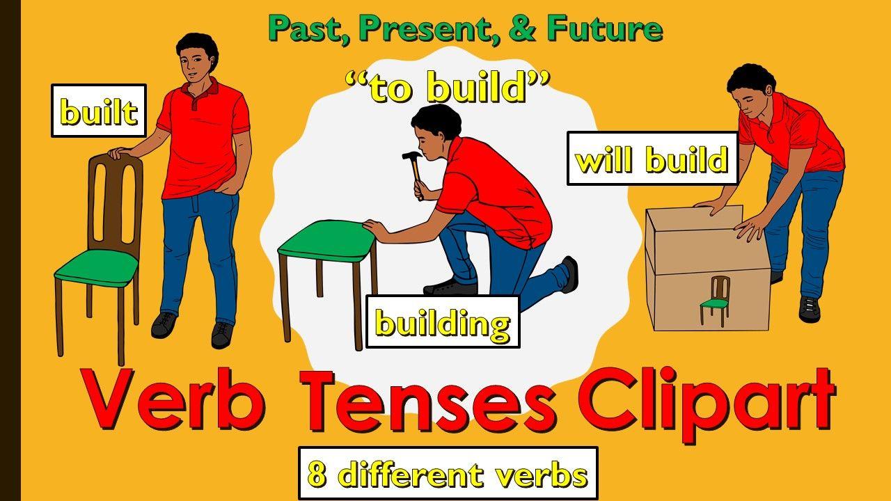 Verb Tenses Clipart.