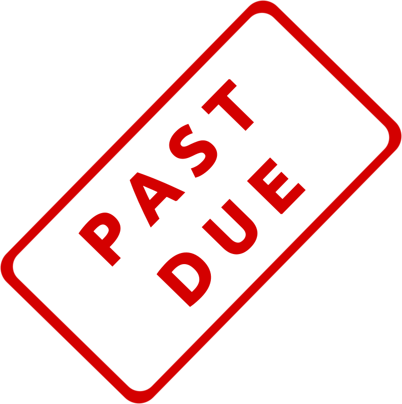 Free Clipart: Past Due Business Stamp 1.