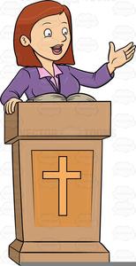 Female Pastor Clipart.