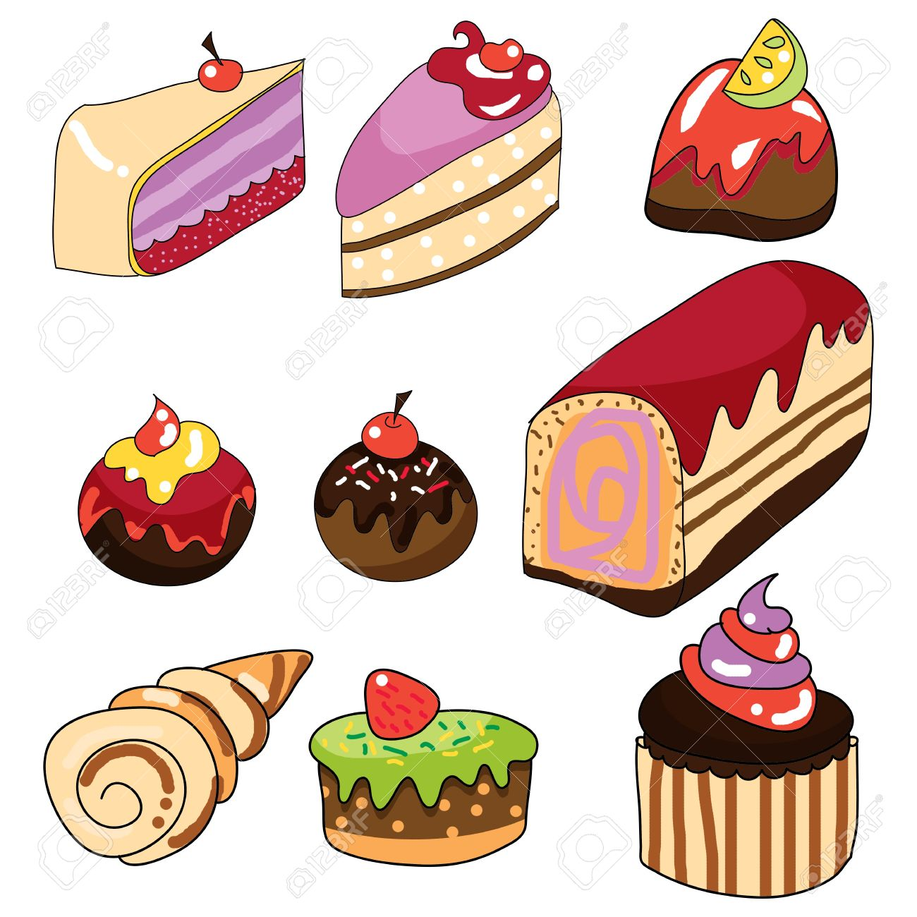 Pastries clipart 6 » Clipart Station.