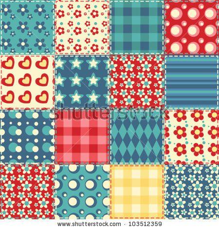 Texture clipart patchwork quilt #6.