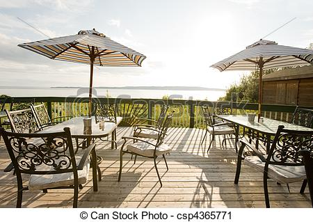 Stock Photography of Outdoor cafe.