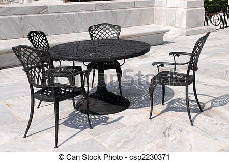 Stock Photography of Patio furniture.