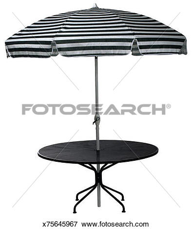 Picture of Patio table with umbrella x75645967.