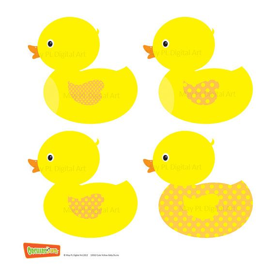 Rubber Duckie Ducky Duckling Yellow Ducks Baby Ducks Clipart.