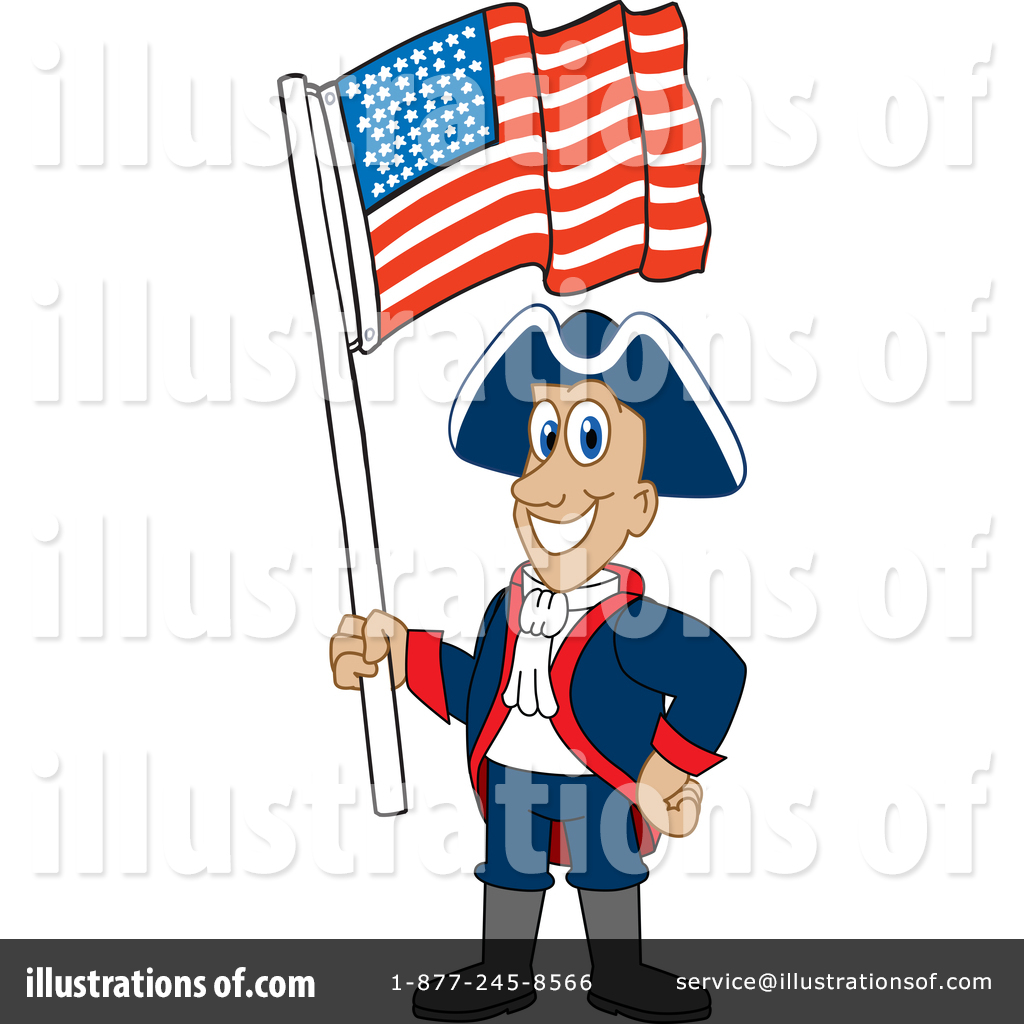 Patriot Mascot Clipart #1439791.